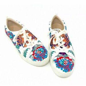 White Floral J/Slides